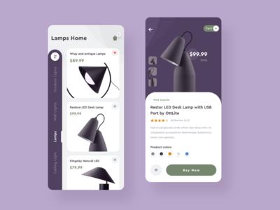 Lamps Sales E-commerce iOS App