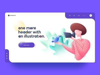One More Illustration colorful web design website ui ux illustration