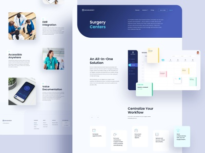 DocBuddy Subpages website web design web patients medical landing page homepage documents doctor design system dashboard