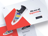 Concept Exploration concept shoes ui web design website collection homepage
