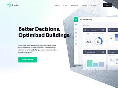 Bractlet Website - Approved Style properties web design optimization building website ui ux dashboard homepage