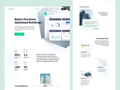 Bractlet - Homepage landing page web design homepage dashboard ux ui properties optimisation building website