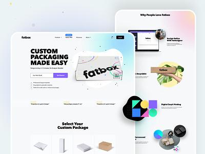 Fatbox - Homepage saas b2c landing page homepage ux ui box packaging web design