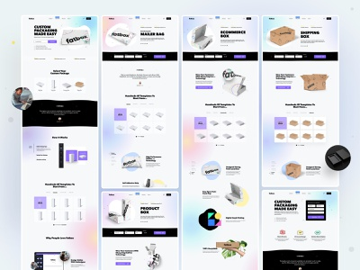 Fatbox - Subpages saas b2c subpages ux ui box packaging web design