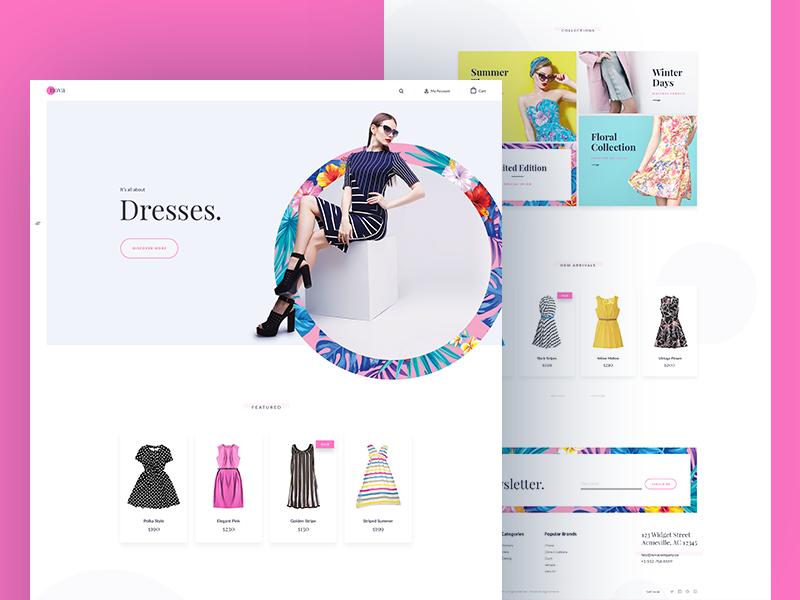 Nova Theme - Homepage homepage theme ecommerce bigcommerce floral winter summer nova fashion dress bootstrap
