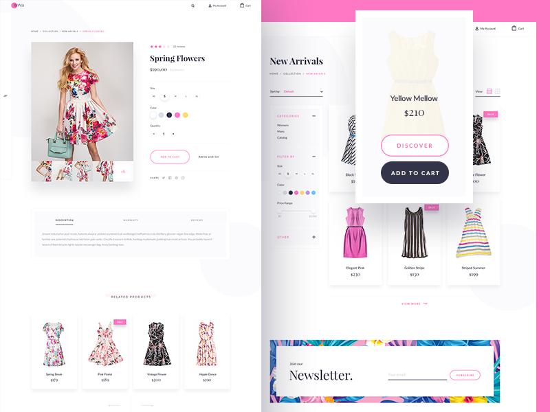 Nova Theme - Products product theme ecommerce bigcommerce floral winter summer nova fashion dress bootstrap