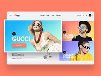 Sunglass homepage v2 dribbble