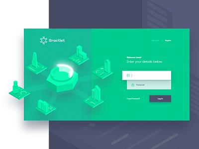Bractlet - Log In analytic ux ui website register log in illustration dashboard