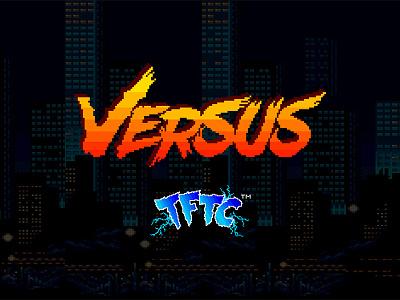VERSUS . Youtube concept 16-bit 8-bit fighter video game pixel art graphic design branding brand logo versus