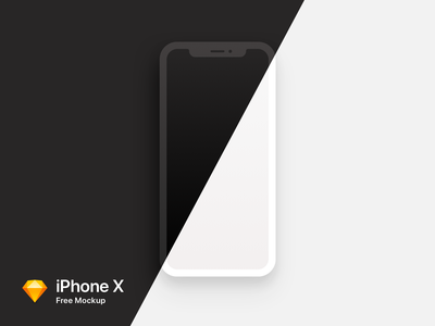 iPhone X Mockup Freebie white sketch x iphonex mockup iphone freebie free dark