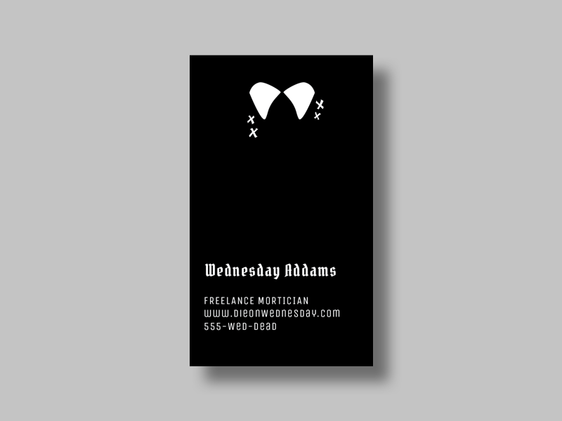 Wednesday Addams' Business Card business card halloween wednesday addams addams family