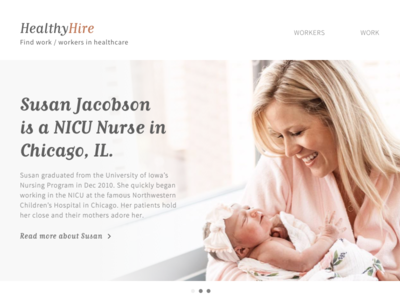 Healthy Hire - Landing Page