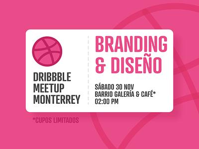 Dribbble Meetup Monterrey coffee nuevo leon mexico monterrey logo logo design branding design meetup