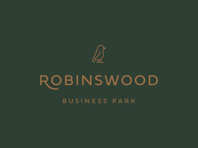 Robins Wood Business Park Logo business robin typography icon logo