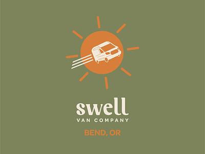 Swell Vans teardrop flag design