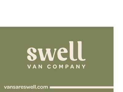 Swell Van Company Business Card /front