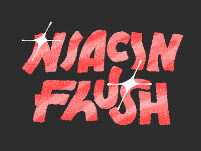 Niacin flush handlettering procreate typography illustration
