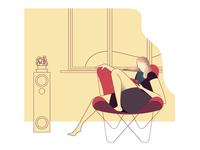 Emma in Butterfly Chair