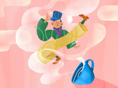 Leprechaun procreate ipad leprechaun illustration whimsical