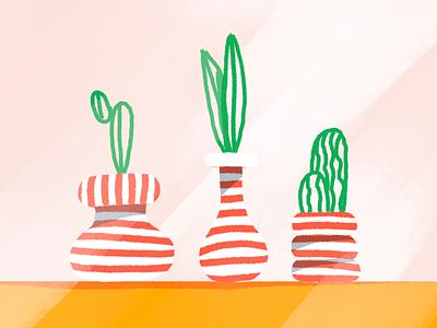 Plants procreate illustration