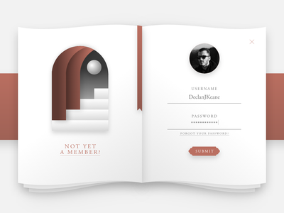 Daily UI #1 - Book Sign Up book website web ui sign up log in hello dribbble first shot debut shot debut daily ui challange dailyui 001 dailyui
