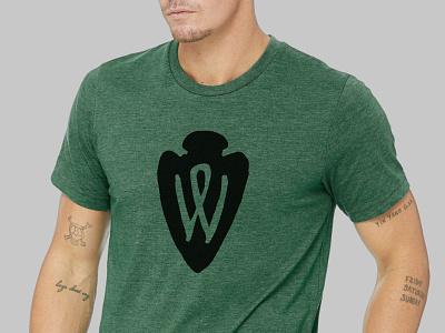 WriteOut 2019 Arrowhead Mark T-shirt logo t-shirt event branding graphic design