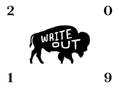 WriteOut 2019 Announcement branding event graphic design
