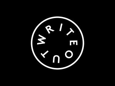 WriteOut 2019 Badge branding event badge graphic design