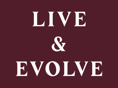 Live & Evolve Wordmark typography wordmark logotype branding graphic design