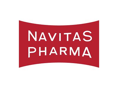 Navitas Pharma Logo graphic design badge typography branding lettering wordmark