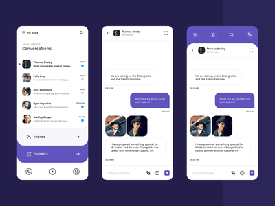 ChatIQ     Slack meet Whatsapp chat app design whatsapp slack mobile ux ui