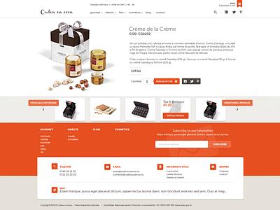 Cadou cu ecou product gift widget chocolate ui website add to cart list detail