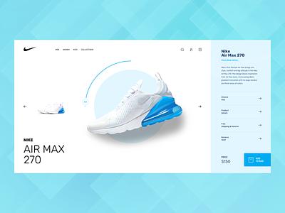 Shopping experience airmax cart buy online shopping ecommerce nike webdesign design website minimal interface ux ui