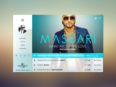 Interactive music banner music ui ux banner interactive