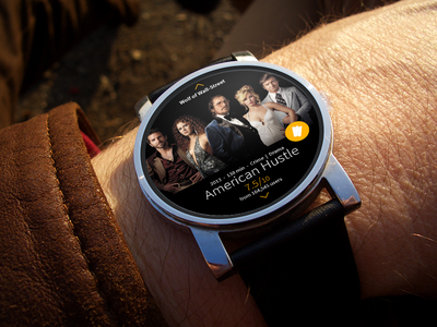 Android Wear interface for IMDB android ui ux interface imdb movie tickets