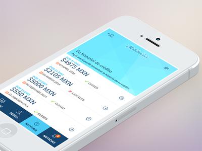 Credit history loan app ui ux mobile app simple cash loan interface credit history