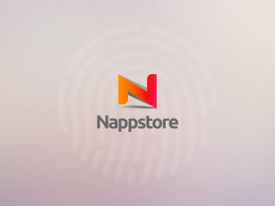 Nappstore Logo logo app mobile store simple design identity brand