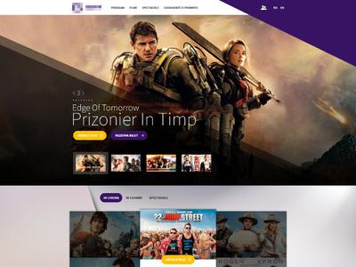 Cinema Website - WIP ui ux interface imdb movie cinema website minimal