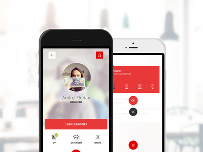 Profile & Sync Screens | HR app ui ux mobile app interface recruitment cards hr job material design