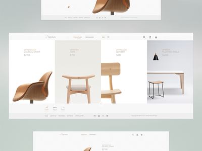 Furniture shop simple modern website webdesign ui ux minimal furniture product listings