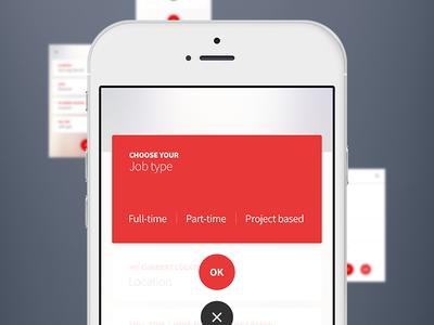 Settings menu ui ux mobile app interface recruitment settings menu hr job material design