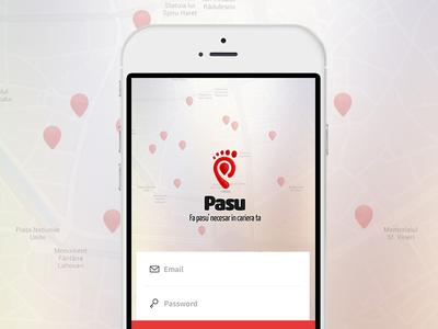 Pasu job app material design job hr login logo recruitment interface app mobile ux ui