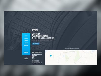 Tube & Steel website minimal company steel tube website interface ux ui
