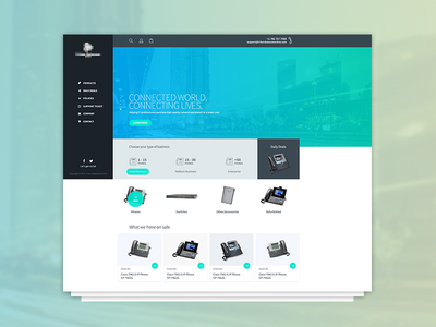 Communication ecommerce website shopify products phones communications ecommerce interface website web design