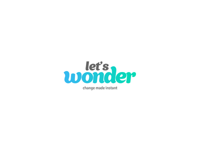 Wonder shopping instant branding wonder logo