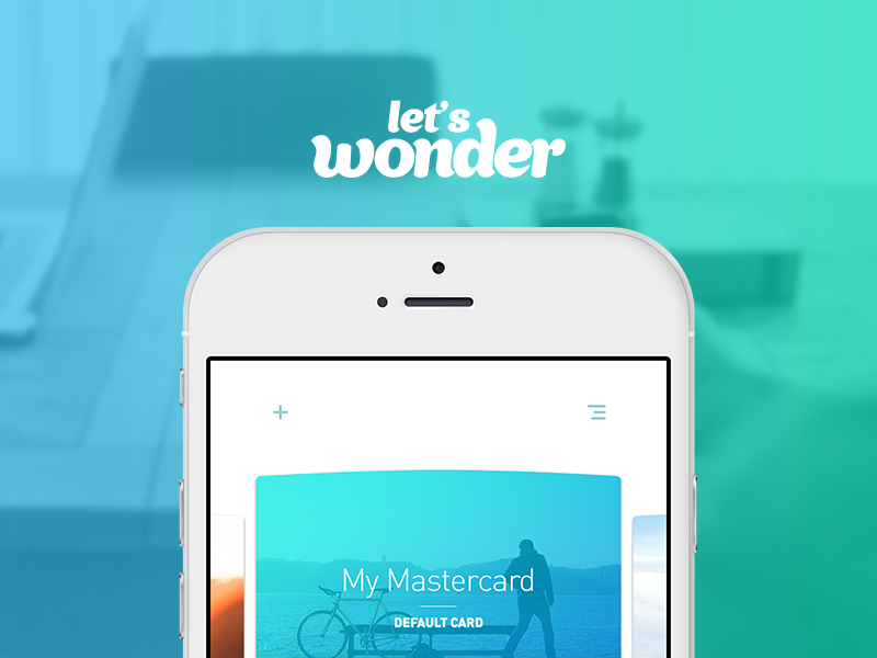 Let's Wonder! app ux ui mobile shopping instant wonder