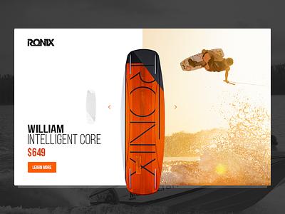 King Of Wake wakeboarding summer ronix minimal design interface ux ui