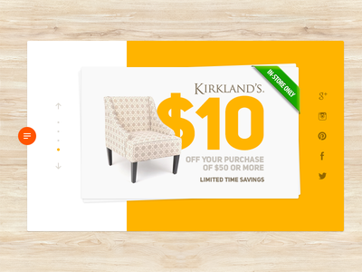 Get Your Coupon ecommerce shopping coupon minimal design interface ux ui