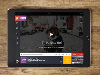 Video mobile app minimal design stream video interface app mobile ux ui