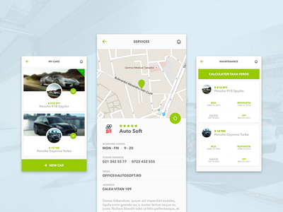 Just for drivers interface ios driver service car minimal design ux ui